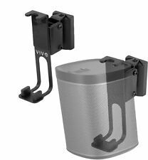VIVO Black Dual Wall Speaker Mount Designed for SONOS PLAY 1 Brackets (2 Pack)