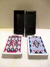Vintage 1949 Kem Playing Cards Double Deck Complete Fleur-de-lis, Bakelite Case?