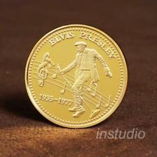 Elvis Presley Gold Coin Commemorative Music Fan Gift for Collection Collectible