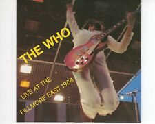 CD THE WHOlive at the filmore east 1968BACK TRAX EX  (B2144)