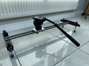 Glidetrack DSLR and Video camera slider 78cm with tripod head included.
