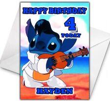 DISNEY STITCH Personalised Birthday / Christmas / Card - Large A5 - Disney 2