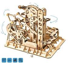 DIY Wooden Model Building Kits Marble Roller Coaster Mechanical Gear Toy Set