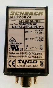 Schrack plug-in relay  MT228024 switching relay plug-in relay