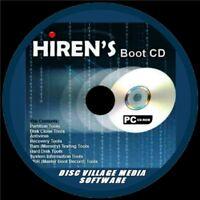 HIRENS BOOT DISC TOOLS CD BACKUP FIX SLOW RUNNING CRASHES ANTI VIRUS PC/LAPTOP