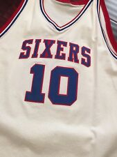 5709894d3 100% Authentic Mo Cheeks Mitchell Ness Sixers Jersey Size 60 dr j iverson