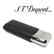 St. Dupont Cigar Case - Metal & Leather - for 2 Cigars