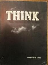 RARE SEPTEMBER 1950 IBM THINK MAGAZINE LITHOGRAPHS GOOD CONDITION FREE US SHIP