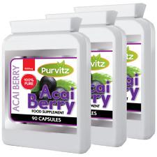 Acai Berry 1000mg 270 Pills Fat Burner Weight Loss Detox Diet Slimming Purvitz