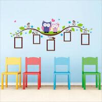 New Cartoon Cute Six Owl on the Tree DIY Wall Wallpaper Stickers Art Decor Mural