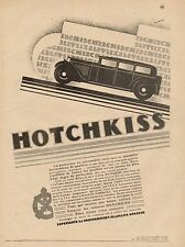 J0673 Voitures HOTCHKISS - Pubblicità d'epoca - 1929 Old advertising