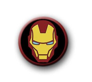 "IRON MAN / 1"" / 25mm pin button / badge / Marvel / Hulk / Thor / Captain America"
