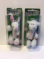 Pez Petz Rabbit Bunny Sheep Barnyard Babies Stuffed Plush Sheep Easter Keychain