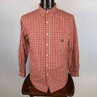 Chaps Easy Care Mens L Multicolor Plaid Button Down Shirt Long Sleeve Casual