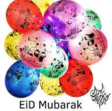 10 Eid Mubarak Balloons For Children Decoration Gift Ramadan Full Print Black