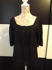 BNWT NEW WITH TAGS BLACK LIGHTWEIGHT LOOSE-FITTING TOP SIZE 8-10 BY ATMOSPHERE