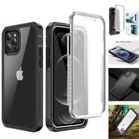 For iPhone 12 11 Pro Max Mini Case Shockproof Waterproof Cover +Screen Protector