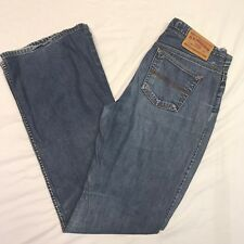 Womens Express Precision Fit Hipster Flare Denim Casual Jeans Sz 7/8