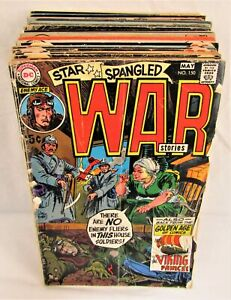 Lot of 30 Star Spangled War Stories Comics 150-204 Unknown Soldier DC Bronze Age