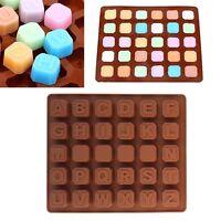 Alphabet Letter Silicone Fondant Mold Cake Decor Candy Chocolate Ice Cube Mould
