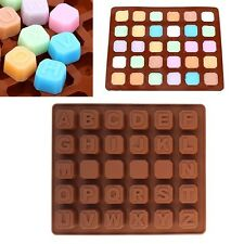 Alphabet Letter Silicone Fondant Mold Cake Decor Candy Chocolate Ice Cube Mould