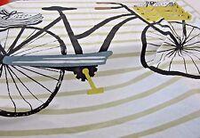Danica Studio Fabric Shower Curtain Bicycle Stripe Pattern Modern Loft Design