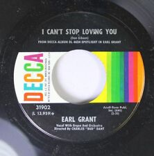 Jazz 45 Earl Grant - I Can'T Stop Loving You / I'Ll Drown In My Tears On Decca