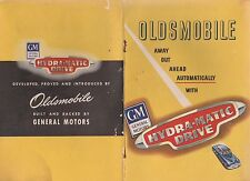 OLDSMOBILE HYRA-MATIC DRIVE 1947 BROCHURE YELLOW COVER