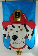 Large Dalmatian #9 Fire Dog Outdoor Banner/Flag Décor ~ Excellent Condition!