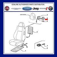 New Genuine Alfa Romeo 147 3 Door & GT NS Left  Seat Handle & Cable 185023960