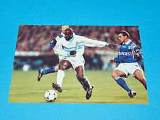 ABOUBACAR TITI CAMARA AJA PHOTO PANINI FOOTBALL 1997-1998 OLYMPIQUE MARSEILLE OM