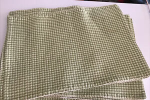 Green And Cream Placemats Set Of 8