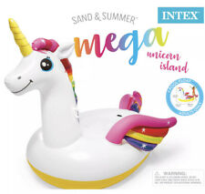 Intex 57291EP Giant Inflatable Mega Unicorn Island Ride On Swimming Pool Float