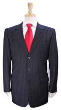 * LOUIS VUITTON * Recent Gray Striped 3-Btn Luxury Super 100's Wool Suit 40R