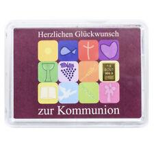 1 Gramm Goldbarren Kommunion Gold 999,9 Feingold Barren in Geschenkverpackung