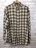 Woolrich Men's Size XL Tall Long Sleeve Flannel Shirt Heavy Plaid 100% Cotton