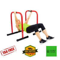 Dip Stand Station  Heavy Duty  Bar Fitness Home Gym Workout Dipping Exercise NEW