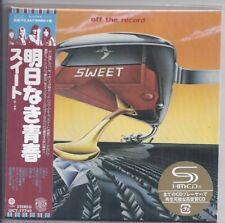 Sweet Off The Record + 1 bonus/Japon MINI LP CD SHM Papersleeve UICY - 77749 New