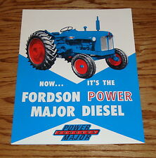 1958 Ford Fordson Power Major Diesel Tractor Sales Brochure 58