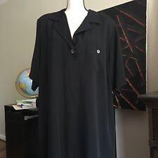 MARINA RINALDI Women's office midi  Cotton wool blend V-Neck Dress $430