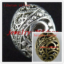 25Pc Tibetan Silver 2-2 Hole Flower Spacer Bar Beads Connectors Charms 13.5x18mm