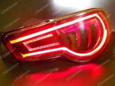 Rojo Tubo Flexible Luz De Freno Tira DRL LED Luz Trasera Flexible tubo X 2 NUEVO