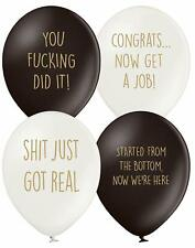 Graduation decorations gift Balloons, 12 Pack 4 designs. Student Party Joke Gift