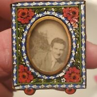 Small Antique Italian Micro Mosaic Picture Frame