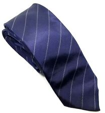 """French Connection Men's Tie Blue Striped 100% Silk 2.75"""" Width 60"""" Length"""