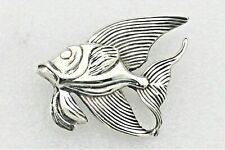 .925 Sterling Silver 20.2 g Vintage Fish Pin Real Solid