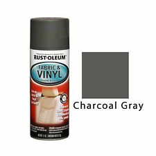 Rust-Oleum Fabric & Vinyl Spray Paint Seats Doors Dashboard Chairs Charcoal Gray