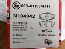 Nissan Almera, Primera , Sunny, 100NX Rear Brake Pads