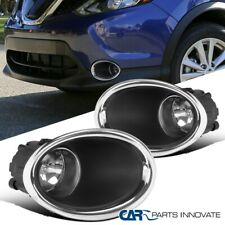 For 17-18 Nissan Rogue Sport Clear Fog Lights Driving Front Bumper Lamps+Switch