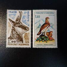 ANDORRA FRANCÉS Nº274/275 PROTECCIÓN LA NATURE / ISARD / PERDICES NEUF MNH